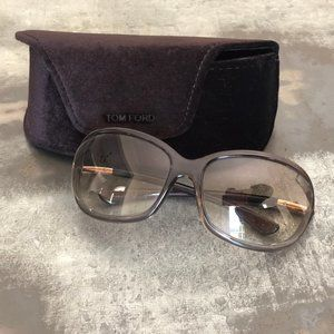 Tom Ford Sunglasses Gradient Brown Oval